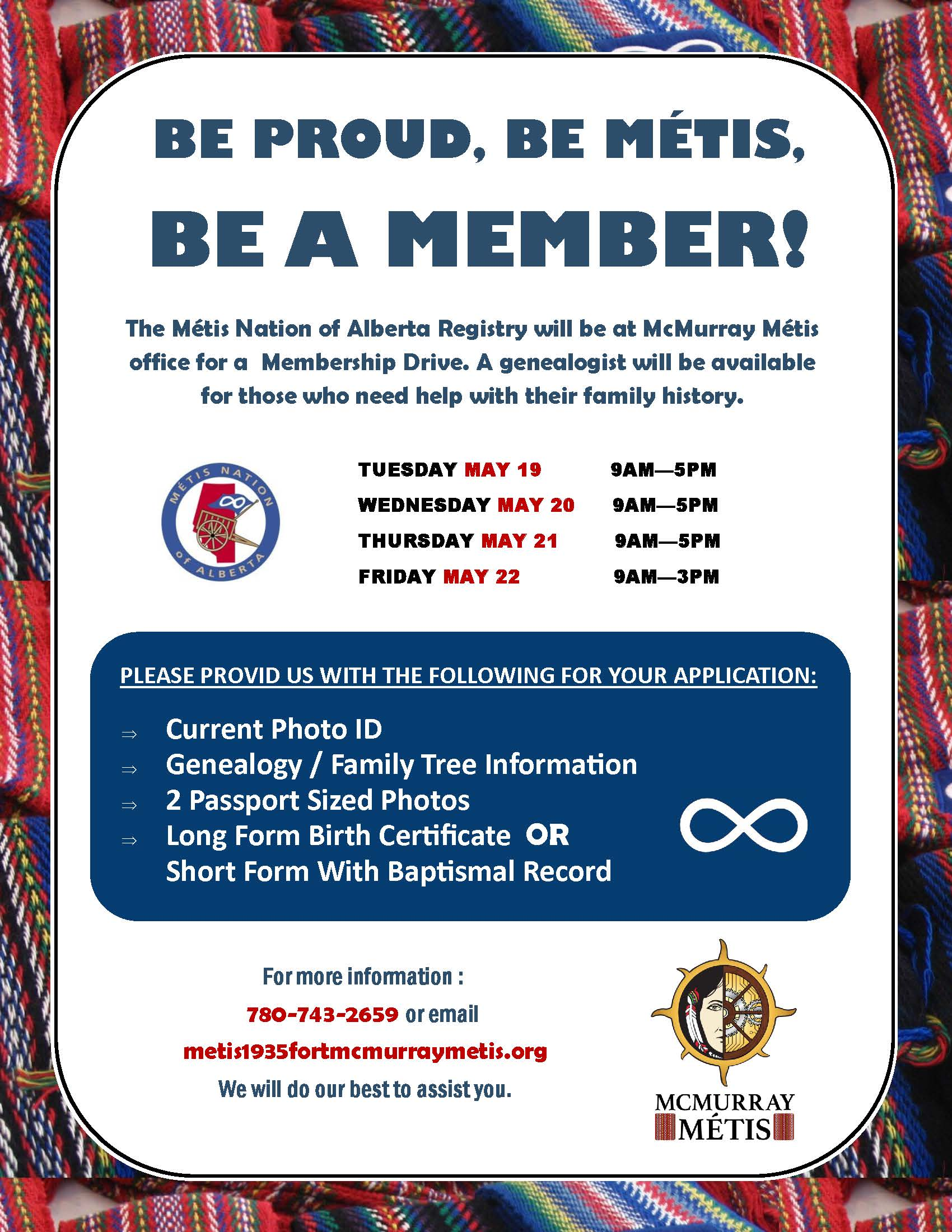 Mcmurray mtis and mtis nation of alberta hold may membership is to pursue the advancement of the mtis people of fort mcmurray and northeastern alberta for more information please visit mcmurraymetis aiddatafo Choice Image